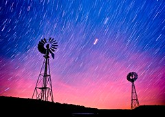 A World of Light (Dan Ballard Photography) Tags: ranch color windmill night photography cowboy colorado gallery photos pics best stunning prints agriculture plains outdoorphotographer southeastcolorado danballardphotography staretrails