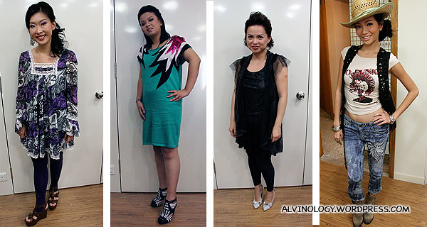 The four bloggers after their make over