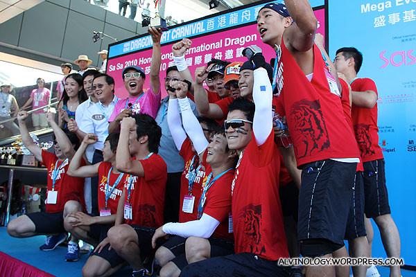 Korea's Dream Team on stage for an award