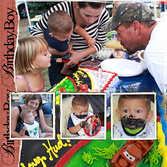 Birthday cake (Nancy Harris) Tags: birthday party cake collage fun candle