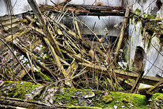 (C)rumbling (Jumpin'Jack) Tags: old roof house broken stairs wooden flickr floor decay walls rotten decrepit stable mossy meet beams hdr crumbling mouldy hayloft putrid jpingjk