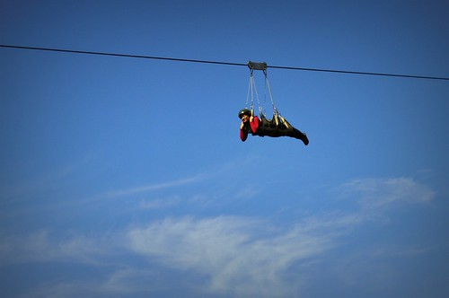zipline at Camp Sabros