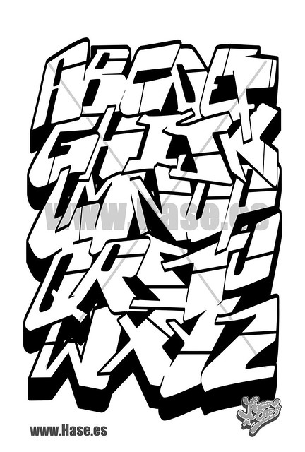 abc graffiti letras de graffiti