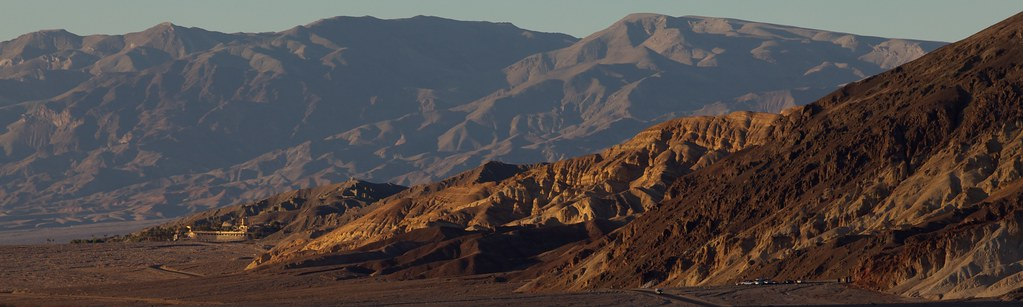 Furnace Creek Inn at sunset