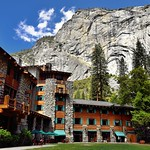 A Mountainside Backdrop to the The Majestic Yosemite Hotel (Ahwahnee Hotel) thumbnail