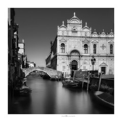 Scuola Grande di San Marco (paolo paccagnella) Tags: paccagnellapaolo phpph© veneto vallepadana venice square architettura ambiente territorio bn bw best biancoenero blackandwhite light landscape lux longexposure le canonequipment italy hospital framework framed architecture old history famousplace church monochrome oldfashioned cultures urbanscene buildingexterior travel city obsolete builtstructure retrostyled antique cityscape europe