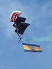 The Tigers (ExeDave) Tags: p6041476 thetigers princessofwalesroyalregiment parachute display team torbay airshow 2017 paignton devon sw england gb uk british army freefall june flag