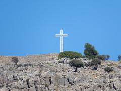 Prophet Elias Monastery Cross, Pefki (deltrems) Tags: prophet elias monastery cross religious hill pefki pefkos pefkoi rhodes rodos greek greece island prophetelias