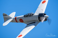 """Japanese """"Zero"""" Replica (Chris Parmeter Photography) Tags: japanese zero flying plane aircraft vintage old classic ww2 famous fuji xt2 100400mm"""