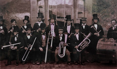 playing in the band (lowooley.) Tags: band allendale northpennines northumberland copyofoldphoto