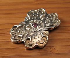 "garnet ""pin"" III (maianajewel) Tags: pin brooch magnet magnetic garnet artclaysilver finesilver"