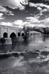 /  Marnan Bridge (saeid.goodarzi) Tags: sky blackandwhite bw cloud reflection canon iran  esfahan   zayanderood     marnan  marnanbridge marnun