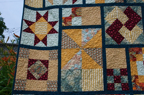 Sampler blocks post quilting