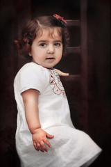 LIERE (irfan cheema...) Tags: portrait baby white texture girl sepia vintage kid eyes child shanghai bund irfancheema