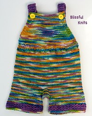 Knit Wool Overalls in 'Spring Delight'