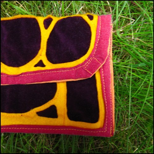 art nouveau design bag in purple and yellow; craft, crafty, handmade, sewn, sewing, original, colour, color, etsy, purple, yellow, magenta, art nouveau, art deco, clutch, wristlet