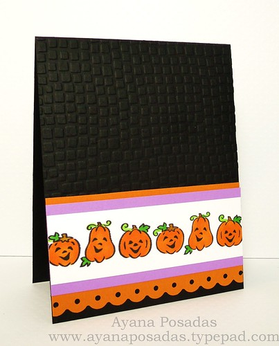 Halloween Card- Pumpkin Strip (2)