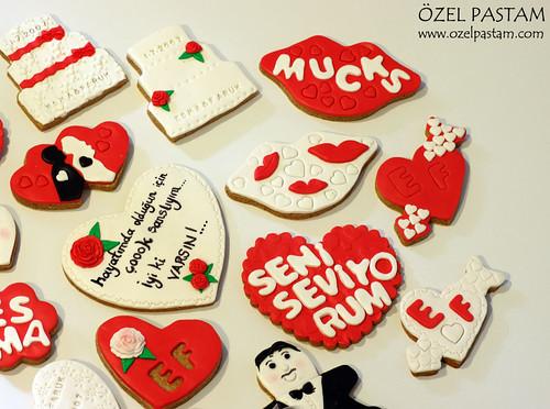 Evlilik Yıldönümü Kurabiyeleri / Wedding Anniversary Cookies