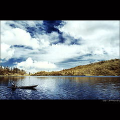 lonely .... (yoga - photowork) Tags: morning sky cloud lake reflection tree canon indonesia ir photography silent v3 canon350d infrared digitalinfrared landscapephotography infraredphotography inspiredbylove efs1022mmf3545usm morningactivity trasognoerealtà beautifulindonesia visitindonesia flickrclassique