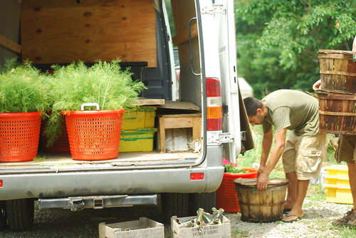 Packing the truck for the Wednesday CSA run in Richmond