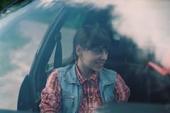 (Joe Pepper) Tags: summer people film window smile car fuji sister superia skirt jeans journey lithuania vilnius zenit11