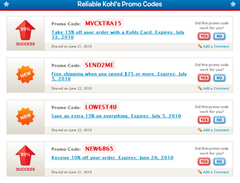 Coupon codes directories