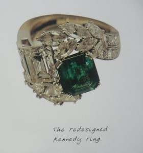 jackie o engagment green wedding ring