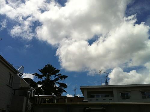 夏空をiPhone 4で撮る
