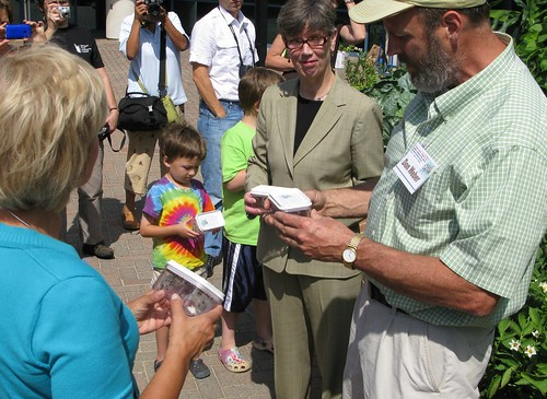 Learning about the beetles from USDA's Don Weber