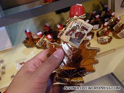 You can buy maple syrup at the gift shop
