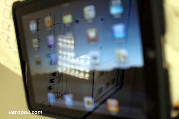 Reflection on the iPad