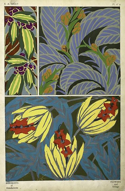 012-Bouquets et frondaisons. 60 motifs en couleur- Eugene Alain Seguy