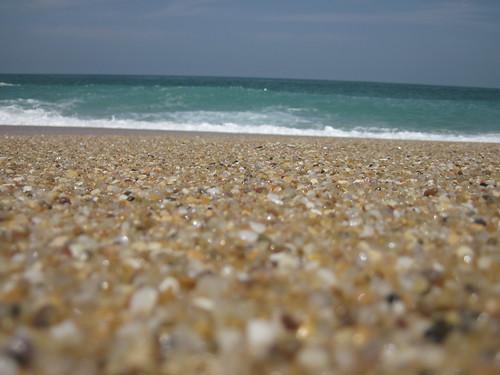 Salgado beach (sand grains and sea)