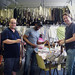 LVJ - Chris Taylor, Reynaldo Davis Carter and Mark Shields checking out ties