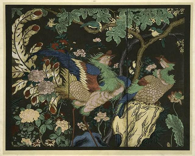 023-Pajaros y flores-Les laques du Coromandel 1923- Eugene Alain Seguy