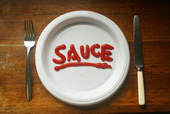 Sauce :) [Photo by tastygoldfish] (CC BY-SA 3.0)