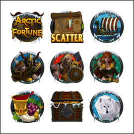 free Arctic Fortune slot game symbols