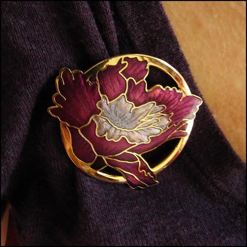 vintage art nouvau style brooch