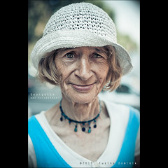 Day 19 - Georgette... was housekeeper (dominikfoto) Tags: street city portrait urban france face hat us model nikon all expression character naturallight 50mm14 chapeau