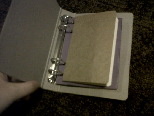 Moleskine in my binder