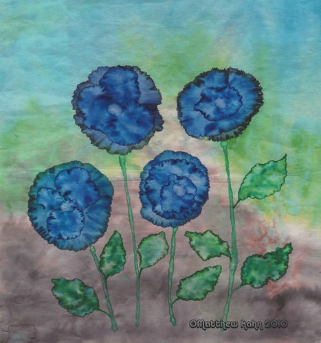 Blue Pansies 2