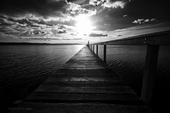 the light at the end of...the jetty? (images-by-TLP) Tags: sunset sky lake clouds timber jetty planks longjetty timlashbrookphotography imagesbybugbits ksccopencompmonomerit210710 wwwtimlashbrookphotographycomau