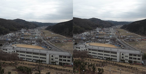 Mikaduki elementary school, 3D parallel view
