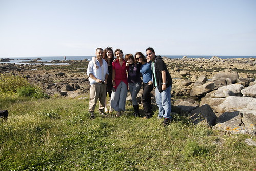 Itamar, Elaine, Orsi, Aldrina and I at Brignogan