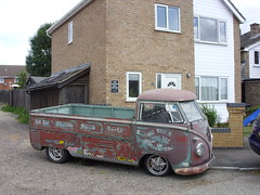 Scruffy Splitty (The original SimonB) Tags: cars vw volkswagen suffolk transport pickup scruffy campervan splitty glemsford