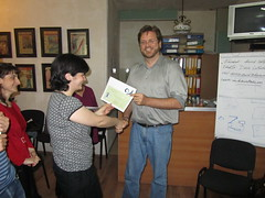 Tbilisi Journalist Graduation (Dave LaFontaine) Tags: news students training georgia newspaper video class tbilisi journalist onlinevideo viralvideo