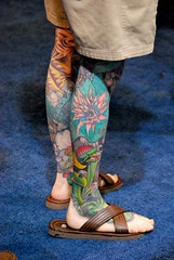 At least he's not wearing socks with those sandals (vic_sf49) Tags: usa tattoo america ga georgia us unitedstates augusta tattooexpo vicsf49 jamesbrownarena