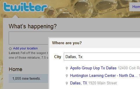 Twitter's Geo Location Service