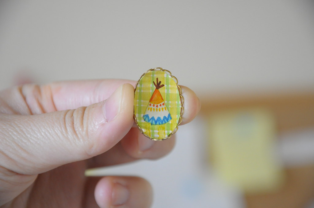 Teeny Tiny Teepee Brooch
