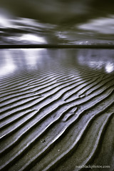 Ripples (maxblackphotos) Tags: uk greatbritain england bw beach water coast seaside spring sand nikon northwest horizon shoreline coastal filter gb ripples motionless 2010 irishsea fylde movingclouds westlancashire 20mmnikkor nd110 d700 movingsky curvetint neytraldensity
